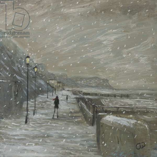 Winter Seafront, 2015, (oil on panel)
