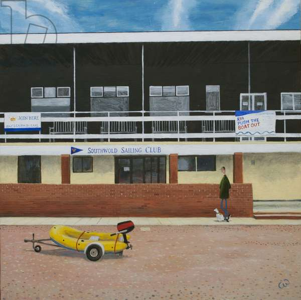 Southwold Sailing Club, 2017, (oil on panel)