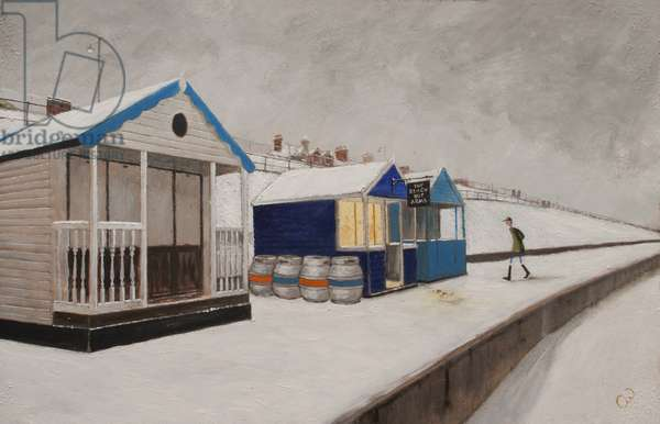 The Beach Hut Arms, 2017, (oil on panel)