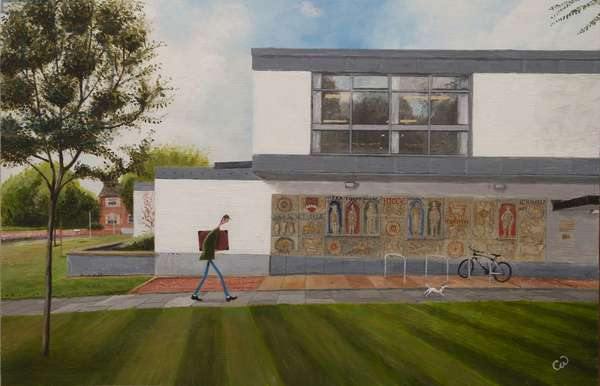 Hitchin Library, 2017, (oil on panel)