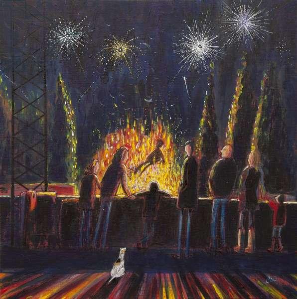 The Bonfire, 2011, (oil on panel)