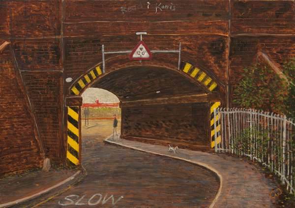 Archway Road, 2013, (oil on panel)