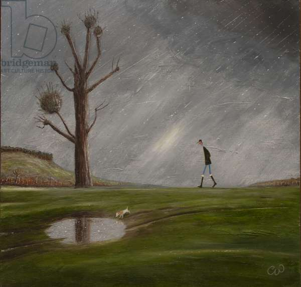 The Puddle, 2017, (oil on panel)