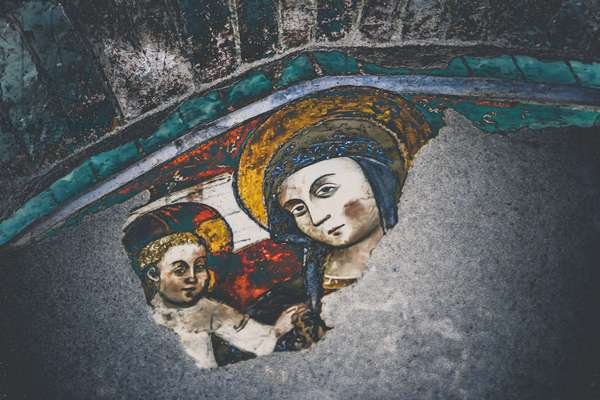 Madonna and Child, from the series, Mary and Jesus in Savonna, 2015, (photograph)