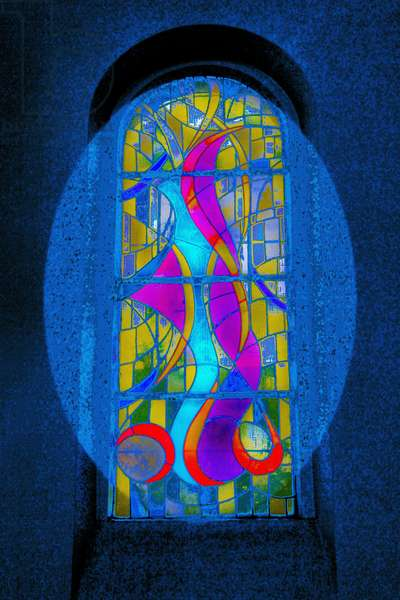 Blue Swirls, from the series Eglise St Pierre d'Arene, 2015, (photograph)