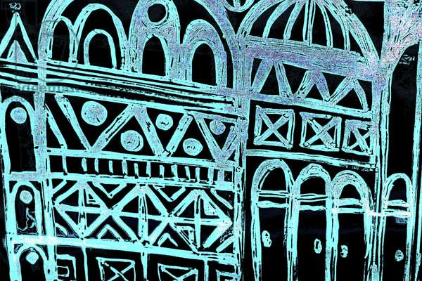 Jerusalem (2), from the series, Italian Synagogue, 2015 (mixed media)