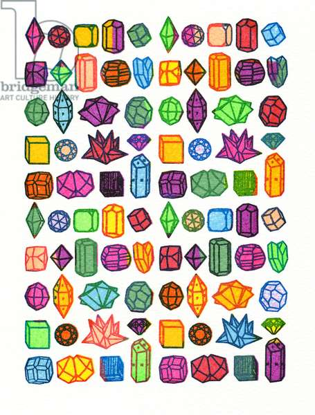 Crystals & Gems, 2103, screen print
