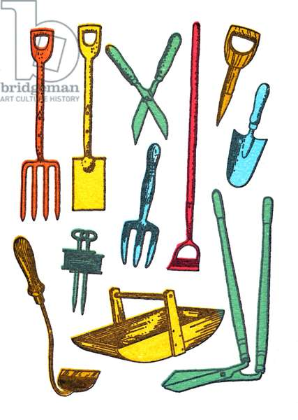 Garden Implements, 2013, (screen print)