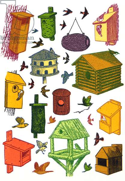 Bird Houses, 2009, (screen print)
