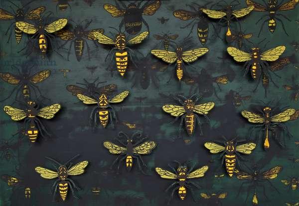 Swarm (detail), 2015, ( box construction )