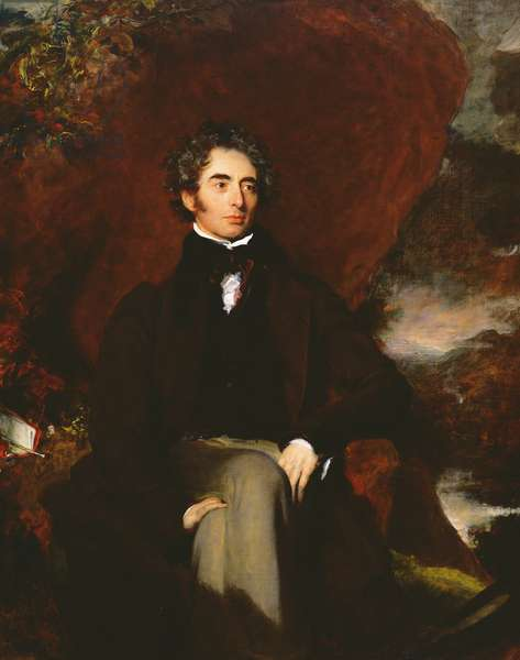 Portrait of Robert Southey (1774-1843) English poet and man of letters (oil on canvas)