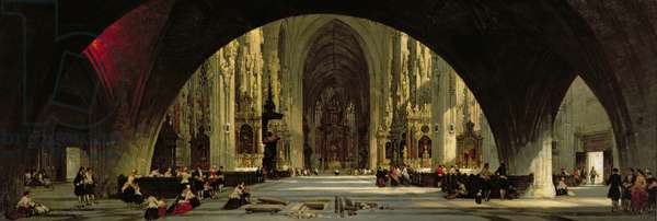The Cathedral of St. Stephen's, Vienna (oil on canvas)