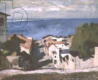 Port Elizabeth, Old Town, 1940 (oil on hard board)