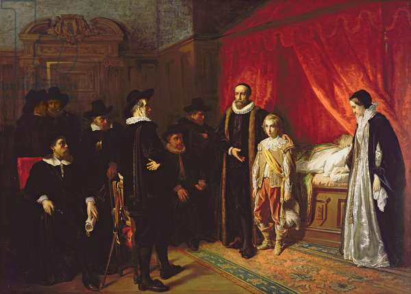 The Death of William the Silent (1533-84) Stadholder of the Netherlands
