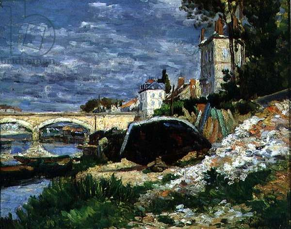 The Banks of the River, 1888 (oil on canvas)