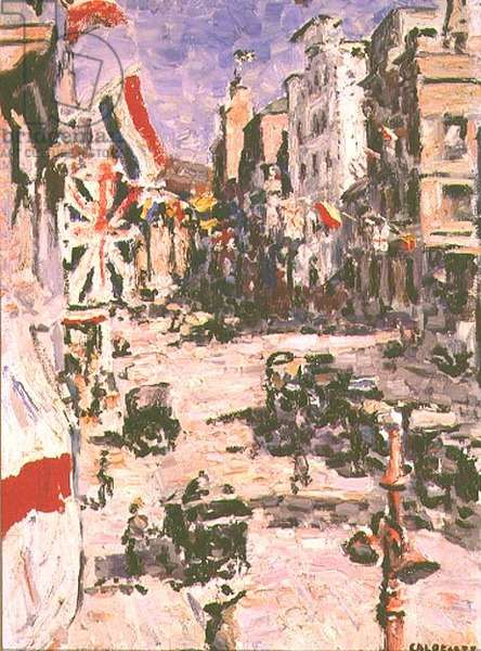Royal Visit, St. George's Street, Cape Town, 1925 (oil on canvas)