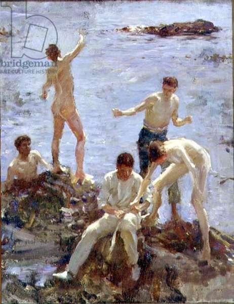 Boys Bathing, 1907 (oil on canvas)