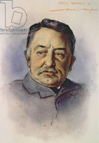 Portrait of Cecil Rhodes (1853-1902) (w/c on paper)