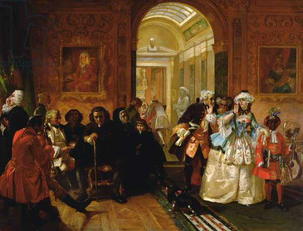 Lord Chesterfield's Ante-Room in 1748, 1869 (oil on canvas)