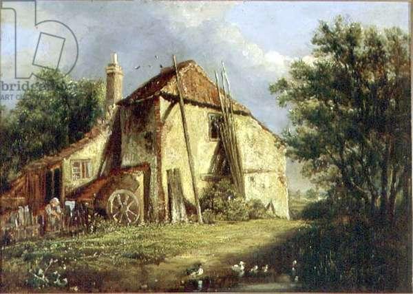 The Old Farm (oil on canvas)