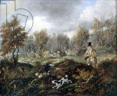 Snipe Shooting (oil on canvas)