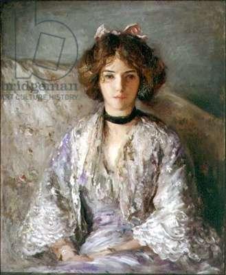 Portrait of Miss Ethel Warwick (oil on canvas)