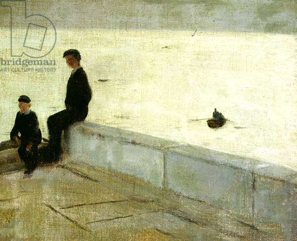 Boys on a Pier, 1909 (oil on canvas)