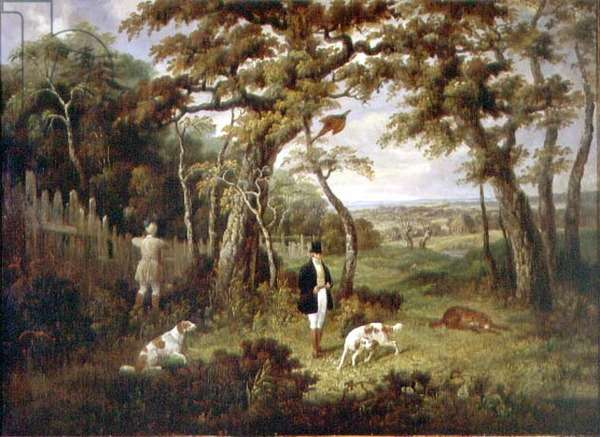 Pheasant Shooting (oil on canvas)