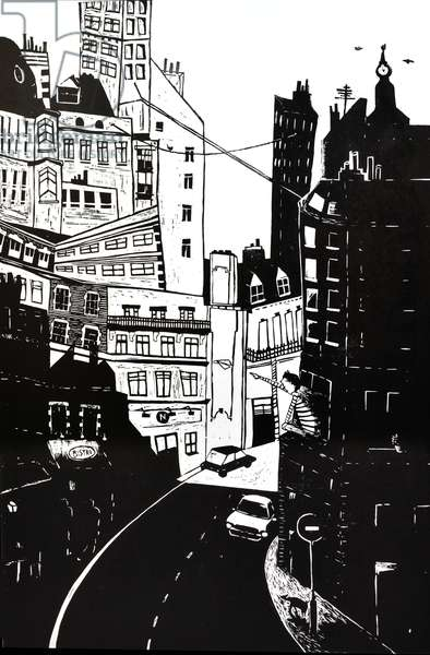 London Baby, 2014, (Linocut)