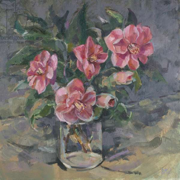Camelias, 2014, (oil on canvas)