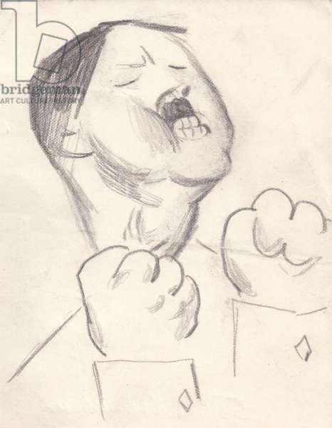 Hitler, 1964 (pencil on paper)
