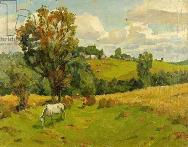 Landscape with Horse, 1960s (oil on canvas)