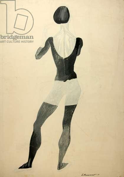 Ballerina, 1968 (tempera on paper)