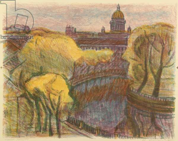 Leningrad in Autumn, 1991 (colourlitho)