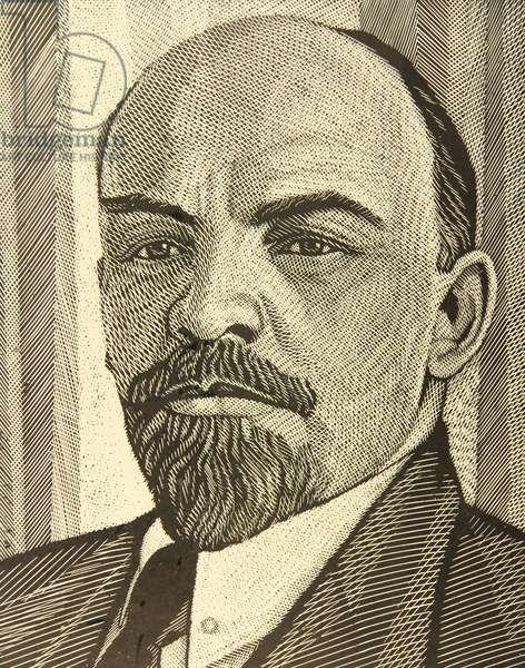 Vladimir Ilich Lenin, 1969 (linocut)