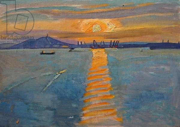 Sunset in Kerch, 1972 (oil on canvas)