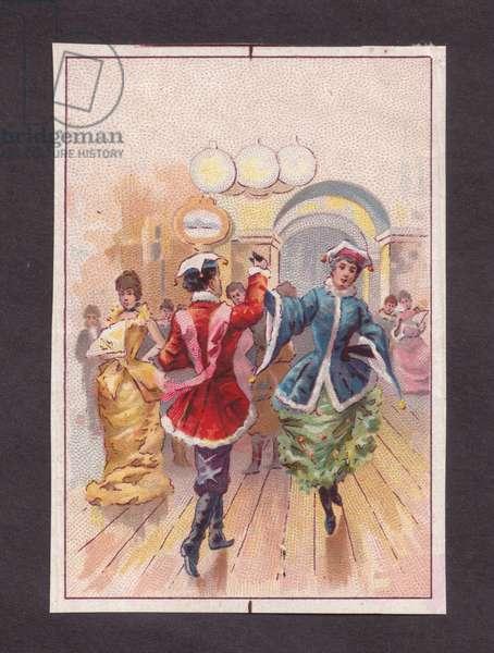 Dancing, 1900s (colour litho)