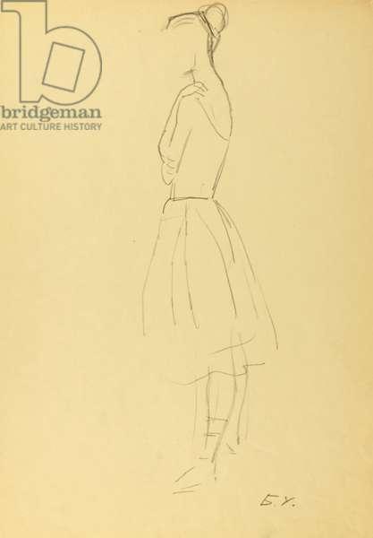 Ballerina, 1972 (pencil on paper)