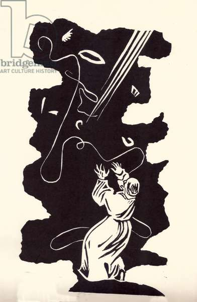 Illustration from 'Faust' by Johann Wolfgang von Goethe, 1808, 1981 (linocut)