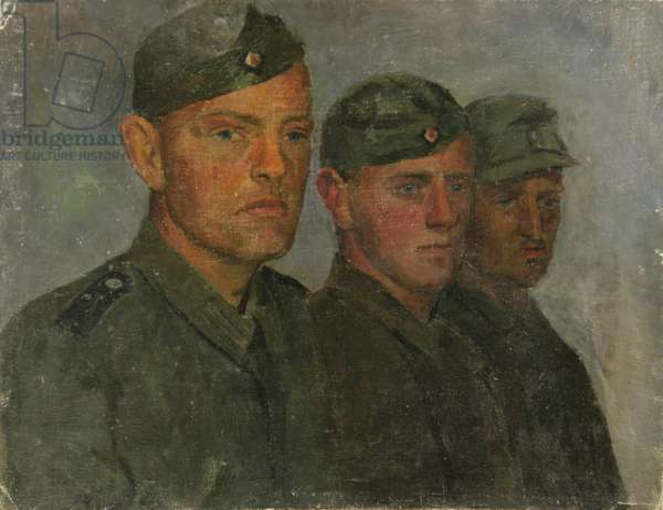Three Soldiers, 1940s (oil on canvas)