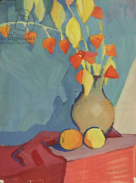 Still Life, 1956 (tempera on paper)