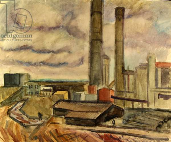 The Solvichesky Chemical Plant, the Urals, 1977 (w/c on paper)
