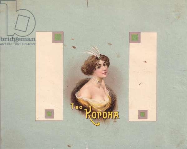 """Corona"" Perfume Label, 1900s (colour litho)"