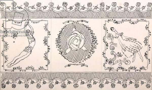 Le spectre de la rose, 1967 (indian ink on paper)