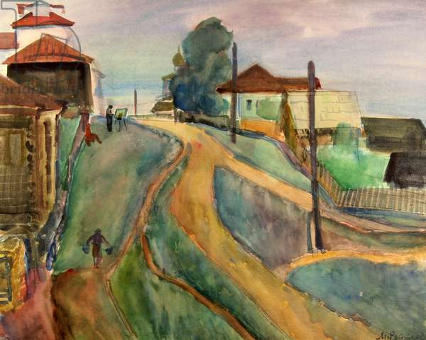 Northern Village, 1975 (w/c on paper)