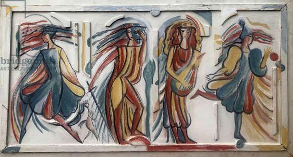 Theatre of the Four Muses, 1985 (plaster & tempera)