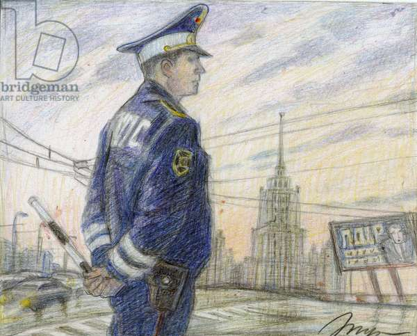 Morning, 2008 (coloured pencil on paper)