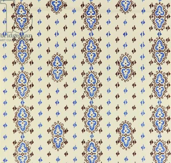 Textile Design, 1970s (tempera on paper)