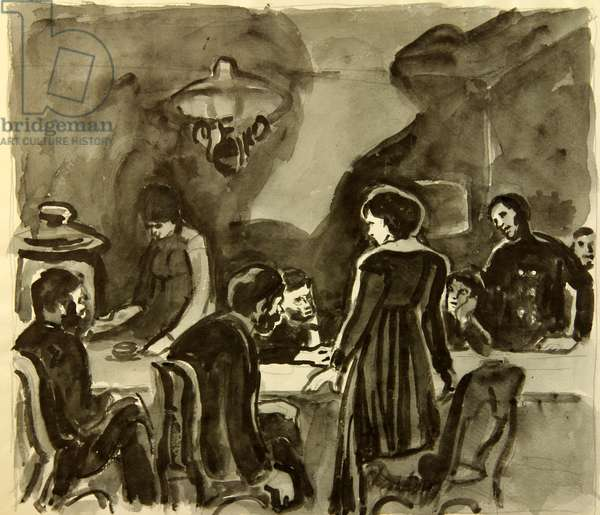 "The Meeting, illustration to Fyodor Dostoyevsky's novel ""Demons"" (1872), 1971 (litho)"
