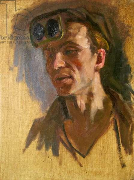 Coalminer, 1947 (oil on canvas)